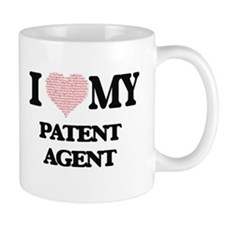I love my Patent Agent (Heart Made from Words Mugs