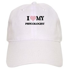 I love my Phycologist (Heart Made from Words) Baseball Cap