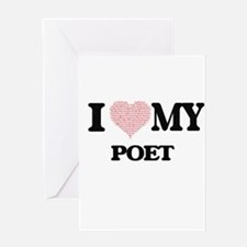 I love my Poet (Heart Made from Wor Greeting Cards