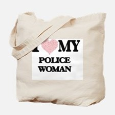 I love my Police Woman (Heart Made from W Tote Bag