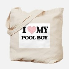 I love my Pool Boy (Heart Made from Words Tote Bag