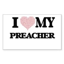 I love my Preacher (Heart Made from Words) Decal