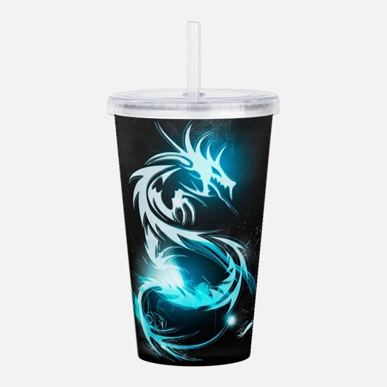 Glowing Dragon Acrylic Double-wall Tumbler