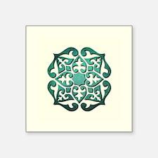 "BOHEMIAN TILE Square Sticker 3"" x 3"""