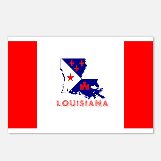 Louisiana Acadiana Red St Postcards (Package of 8)