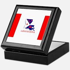 Louisiana Acadiana Red Stripes Keepsake Box