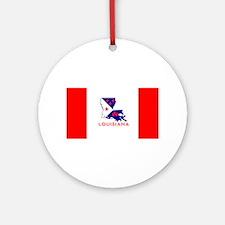 Louisiana Acadiana Red Stripes Round Ornament