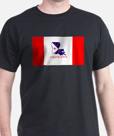 Louisiana Acadiana Red Stripes T-Shirt