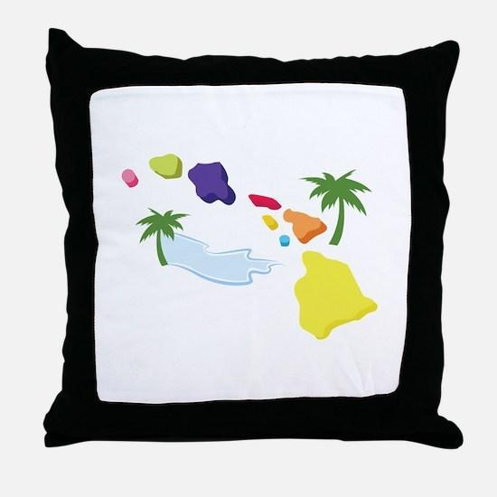 Hawaiian Islands Throw Pillow