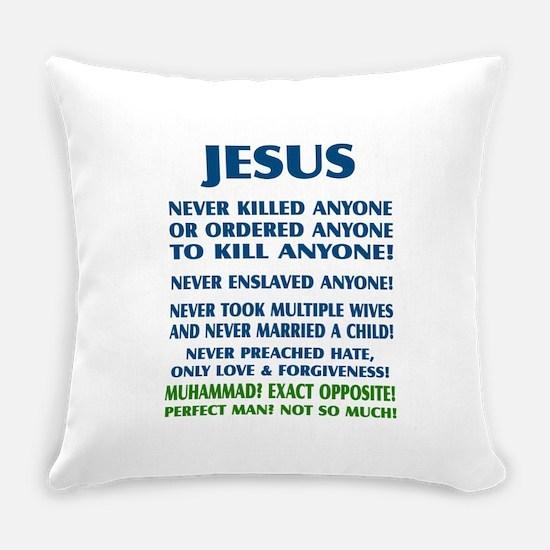 JESUS VS MUHAMMAD Everyday Pillow