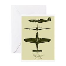 P-51 Greeting Card