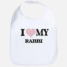 I love my Rabbi (Heart Made from Words) Bib