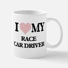 I love my Race Car Driver (Heart Made from Wo Mugs