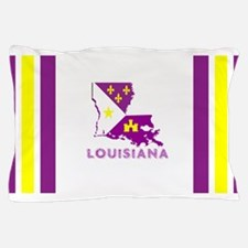 Louisiana Acadiana Purple and Gold Pillow Case