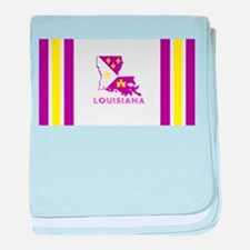 Louisiana Acadiana Purple and Gold baby blanket