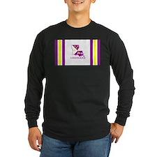 Louisiana Acadiana Purple and Long Sleeve T-Shirt