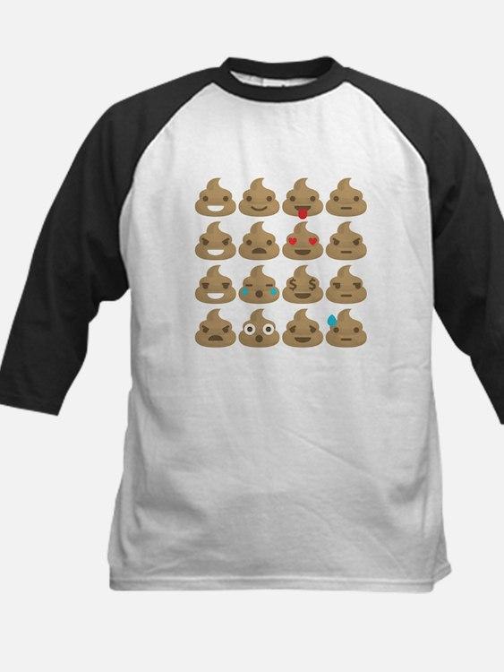 kawaii poop emoji Baseball Jersey