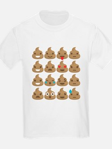 kawaii poop emoji T-Shirt