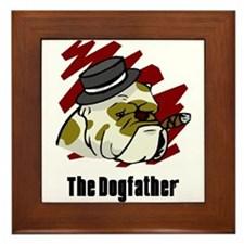 The Dogfather Framed Tile