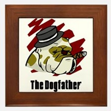 The Dogfather Framed Tile