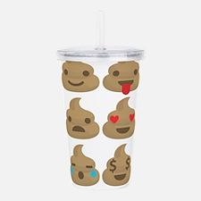 kawaii poop emoji Acrylic Double-wall Tumbler