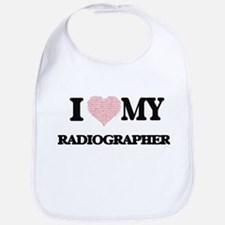 I love my Radiographer (Heart Made from Words) Bib