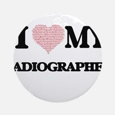 I love my Radiographer (Heart Made Round Ornament