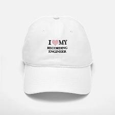 I love my Recording Engineer (Heart Made from Baseball Baseball Cap