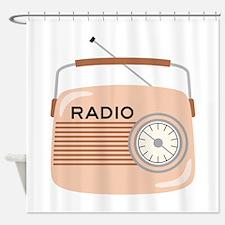 Portable Radio Shower Curtain