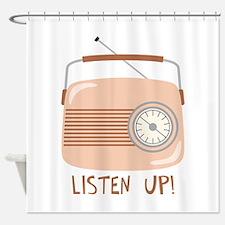 Listen Up Radio Shower Curtain