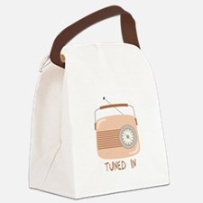 Radio Tuned In Canvas Lunch Bag