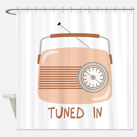 Radio Tuned In Shower Curtain