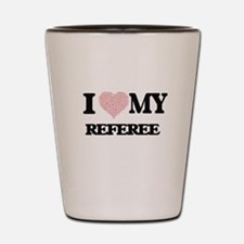 I love my Referee (Heart Made from Word Shot Glass