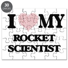 I love my Rocket Scientist (Heart Made from Puzzle