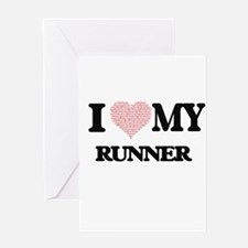 I love my Runner (Heart Made from W Greeting Cards