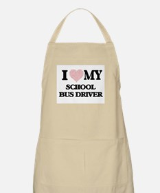 I love my School Bus Driver (Heart Made from Apron