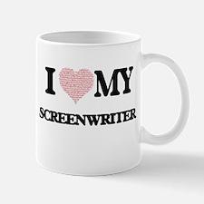 I love my Screenwriter (Heart Made from Words Mugs