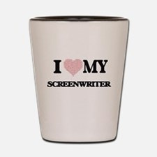 I love my Screenwriter (Heart Made from Shot Glass