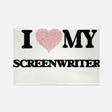 I love my Screenwriter (Heart Made from Wo Magnets