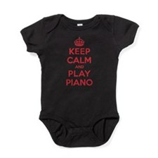 Funny Keep calm and play doubles Baby Bodysuit
