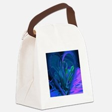 Blue Abstract Heart Canvas Lunch Bag