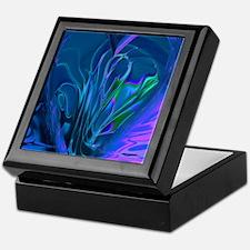Blue Abstract Heart Keepsake Box