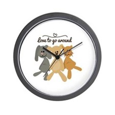 Love To Go Arounds Wall Clock