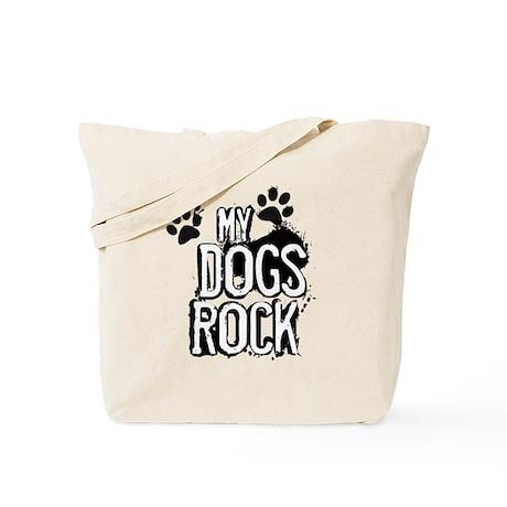 myDOGSrock (messy print) Tote Bag