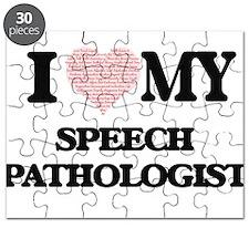 I love my Speech Pathologist (Heart Made fr Puzzle