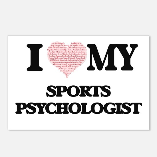 I love my Sports Psycholo Postcards (Package of 8)