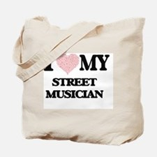 I love my Street Musician (Heart Made fro Tote Bag