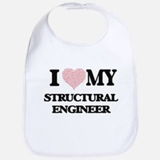 I love my Structural Engineer (Heart Made from Bib