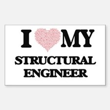 I love my Structural Engineer (Heart Made Decal