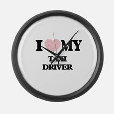 I love my Taxi Driver (Heart Made Large Wall Clock